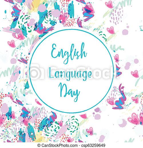 carte, jour, salutation, langue, anglaise - csp63259649