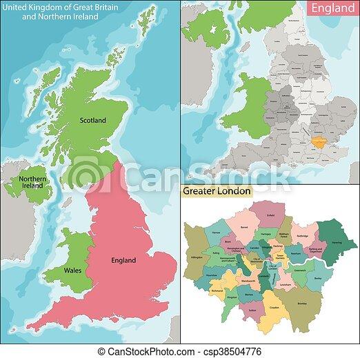 Carte Londres Angleterre.Carte Londres Plus Grand