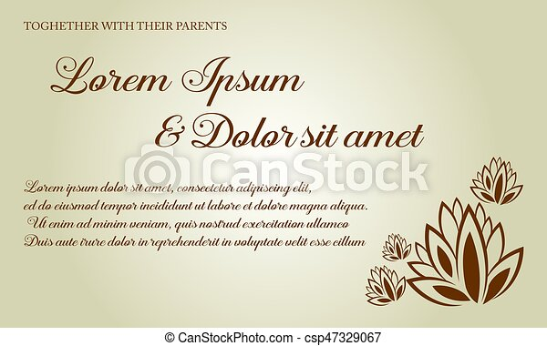 Carte Mariage Fond Collection Invitation
