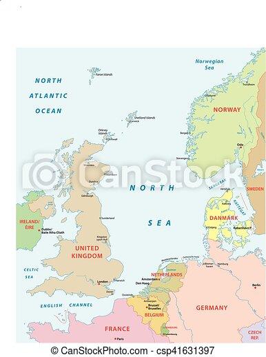 carte, mer nord - csp41631397