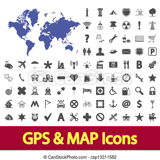 carte, navigation, icons. - csp13311582