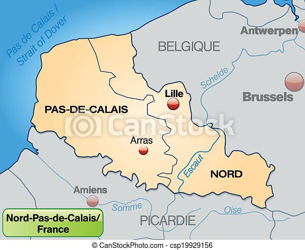 Carte North Pas De Calais