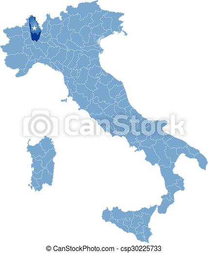 Carte Italie Novara.Carte Novara Italie