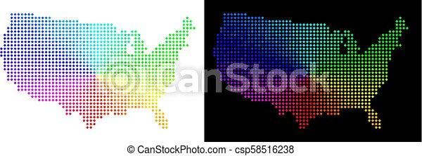carte, point, spectre, usa - csp58516238