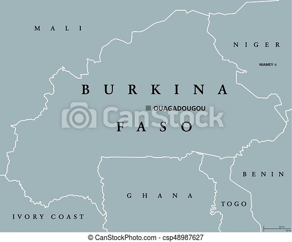 Carte Afrique Burkina Faso.Carte Politique Faso Burkina