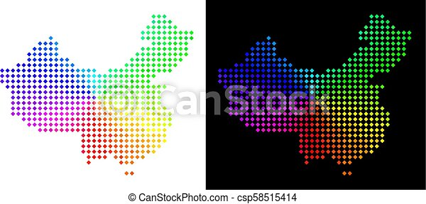 carte, porcelaine, spectre, pixelated - csp58515414
