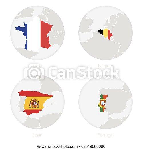 Carte portugal national contour france drapeau belgique espagne circle carte - Dessin drapeau portugal ...