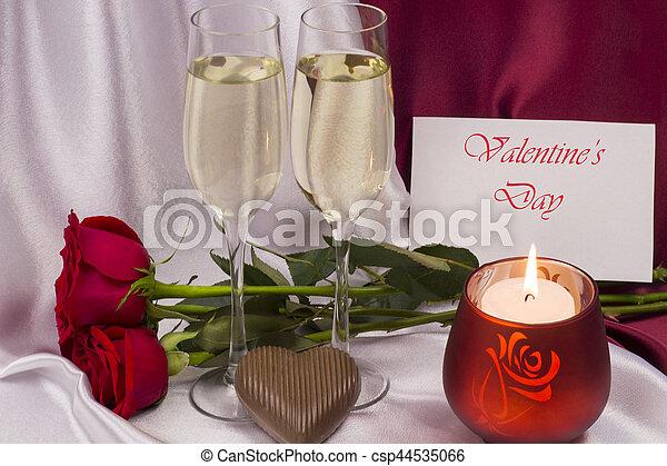 carte postale, day., valentine - csp44535066
