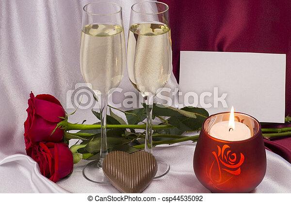 carte postale, day., valentine - csp44535092