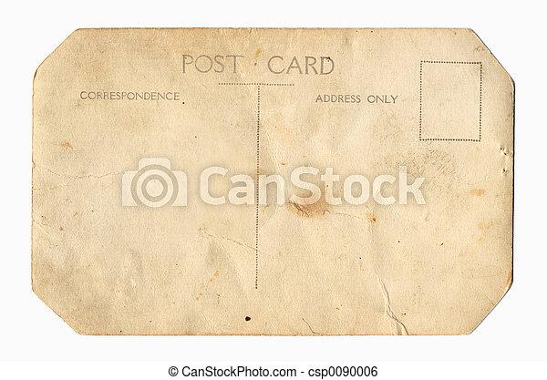 Carte postale, vendange, dos. Vendange, dos, postcard.