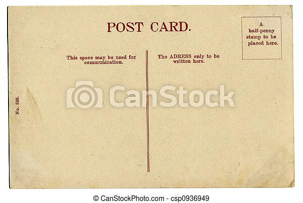 carte postale, vendange - csp0936949