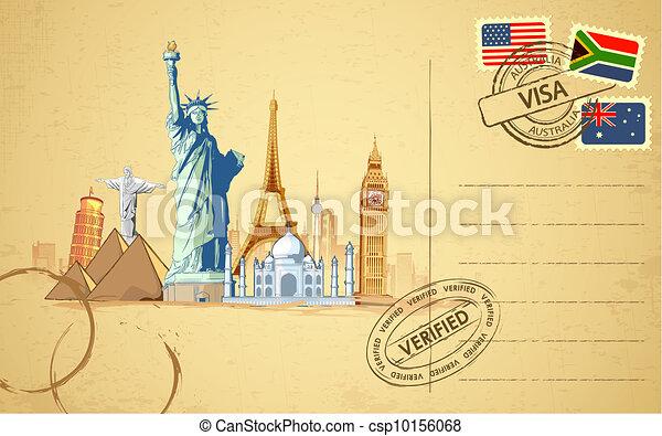 carte postale, voyage - csp10156068