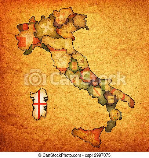 Carte Italie Et Sardaigne.Carte Region Italie Sardaigne Carte Italie Region