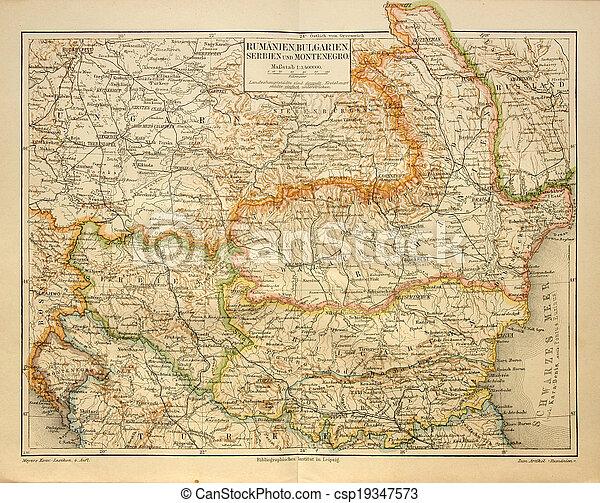 Carte Roumanie Bulgarie.Carte Roumanie Vieille Bulgarie