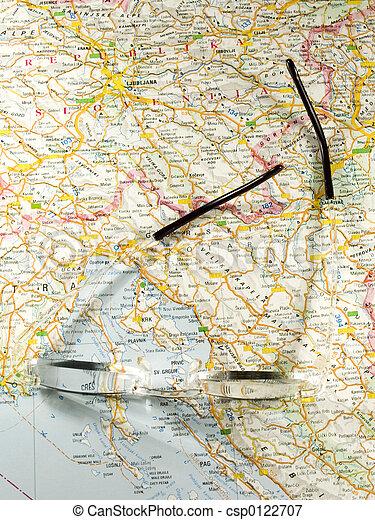 carte, route - csp0122707