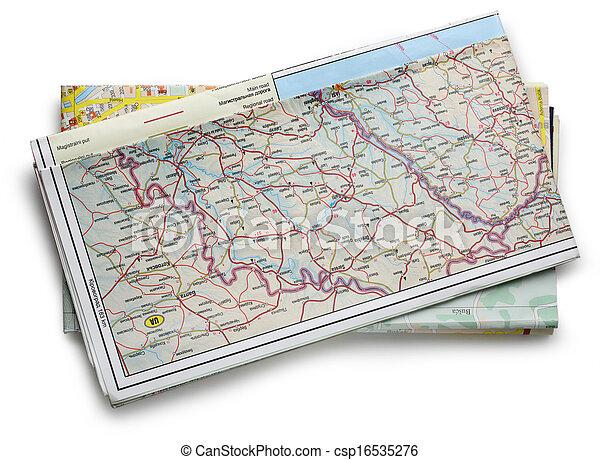 carte, route - csp16535276