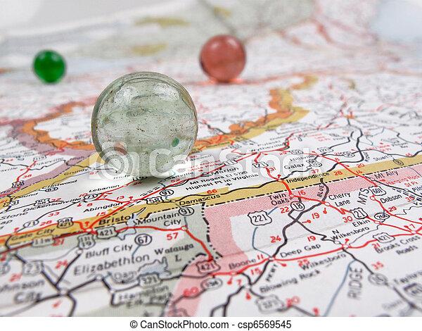 carte, route - csp6569545