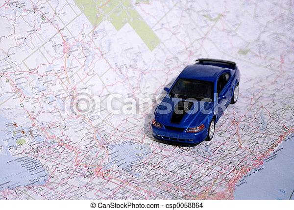 carte, route - csp0058864