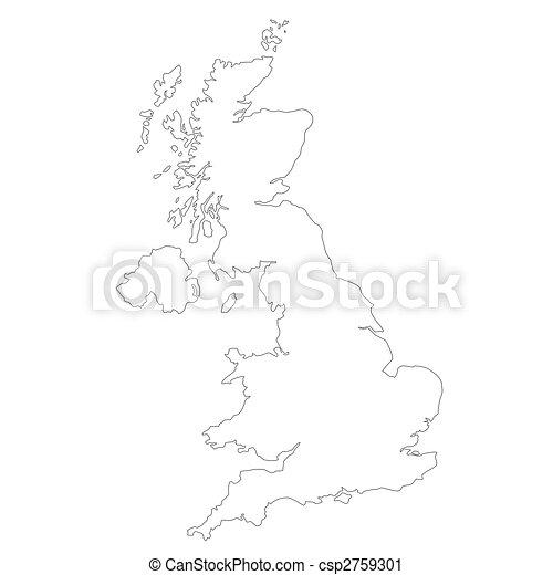 Carte Royaume Uni Noir Et Blanc.Carte Royaume Uni