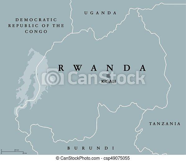 Carte Afrique Rwanda.Carte Rwanda Politique