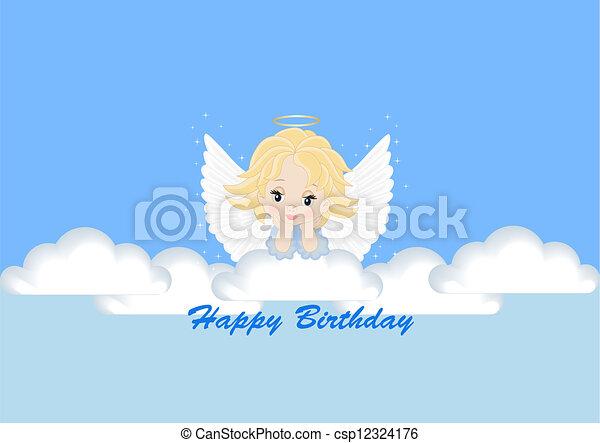 Carte Salutation Ange Carte Anniversaire Salutation Ange Canstock