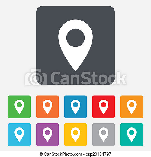 carte, symbole., emplacement, icon., indicateur, gps - csp20134797