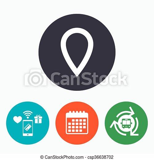 carte, symbole., signe, marqueur, icon., indicateur - csp36638702