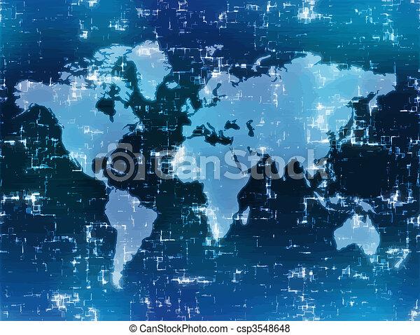 carte, technologie, élevé - csp3548648