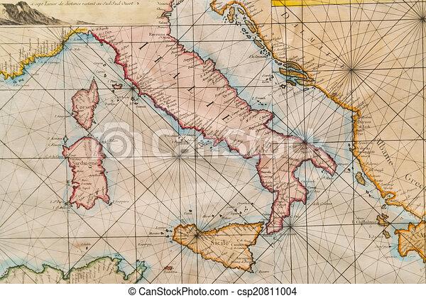 Carte Italie Et Sardaigne.Carte Vieux Italie Sicile Sardaigne Croatie Corse Carte