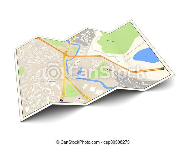 carte ville - csp30308273