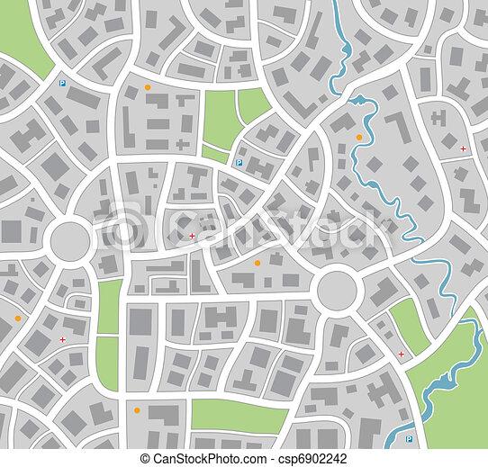 carte ville - csp6902242