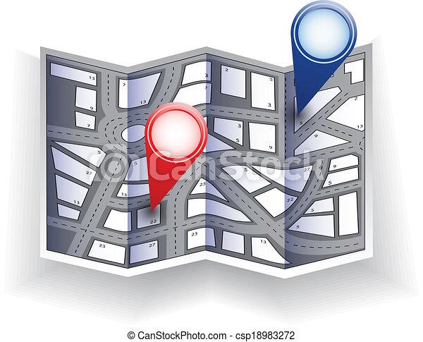 carte ville - csp18983272
