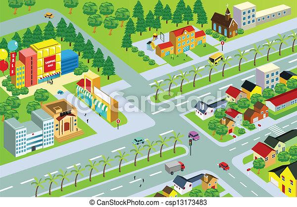 carte ville - csp13173483