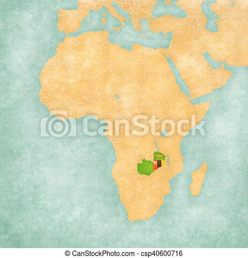 Carte Afrique Zambie.Carte Zambie Afrique