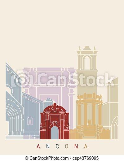 El póster de Ancona Skyline - csp43769095