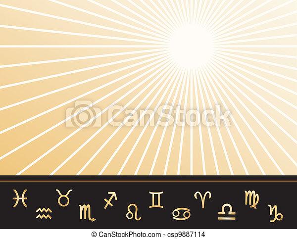 Un póster de astrología - csp9887114