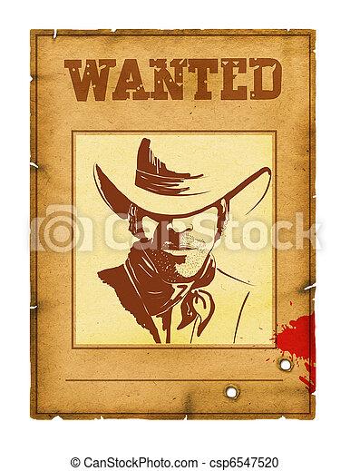 Buscaba un afiche con un retrato de bandido para diseñar en blanco - csp6547520