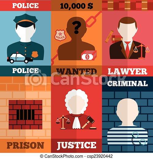 Cartel de crimen y castigo - csp23920442