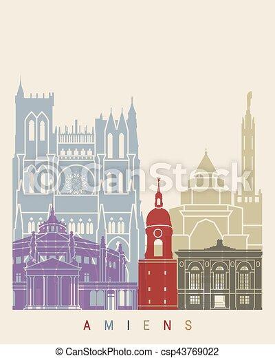 El póster de Amiens Skyline - csp43769022