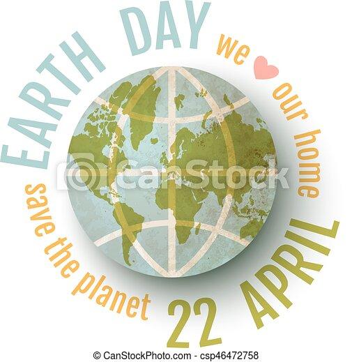 Poster para el día de la Tierra - csp46472758