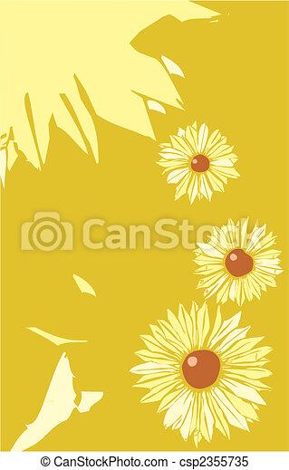 El diseño del póster de flores - csp2355735