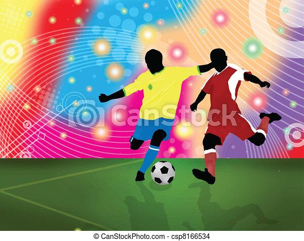 Un póster de fútbol - csp8166534
