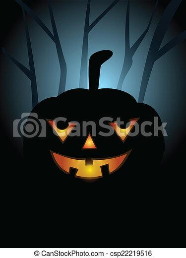 El póster de Halloween - csp22219516
