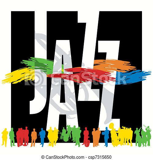 El cartel de jazz - csp7315650