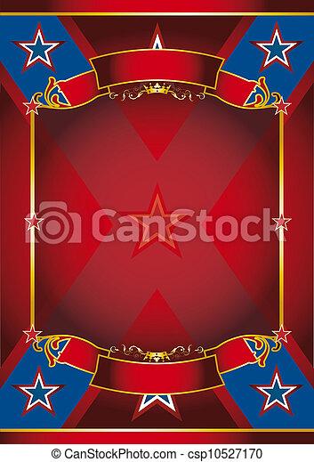 Cartel rojo - csp10527170