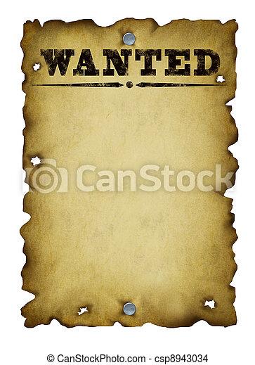 El viejo western quería un póster - csp8943034