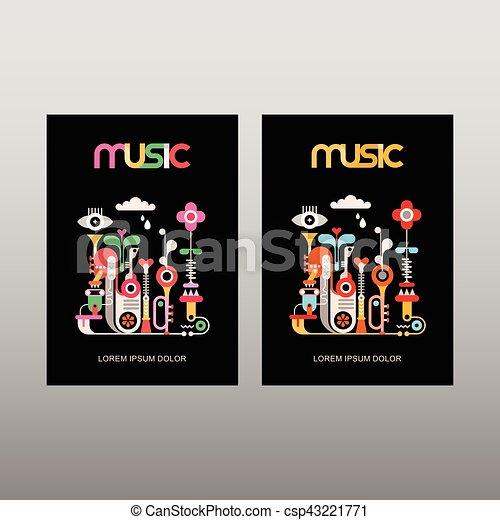 La plantilla del vector musical - csp43221771