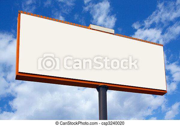 Un cartel en blanco - csp3240020