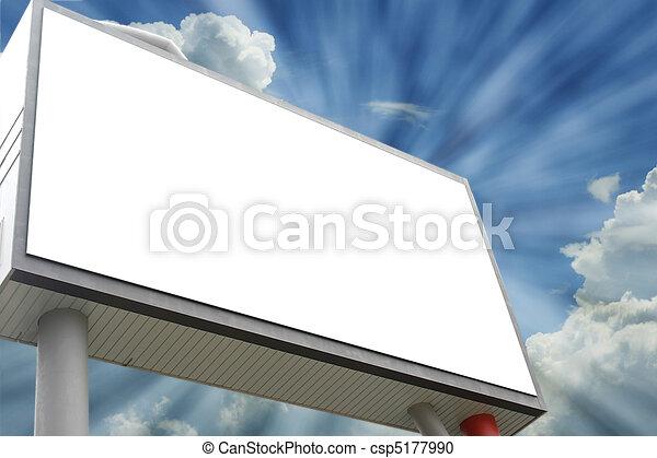 Un cartel en blanco - csp5177990