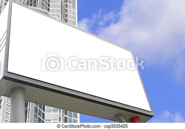 Un cartel en blanco - csp3535425